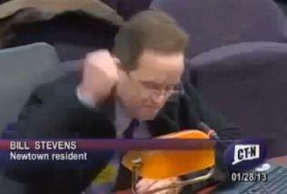 Newtown parent Bill Stevens