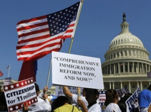 immigration protesters